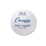 Champion Sports - Rubber Sports Ball, For Volleyball, Official Size, White - Sold As 1 Each - Perfect for the playground or sports field.
