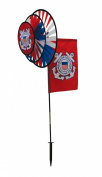 In the Breeze U.S. Coast Guard Dual Spinner Wheels with Flag