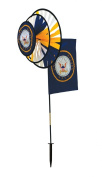 In The Breeze ITB2880 U.S. Navy Dual Spinner Wheels with Flag