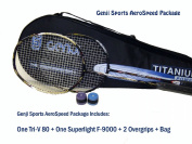 Genji Sports Aero Speed Badminton Package, Right, Small/Long, Black/White