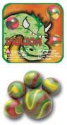 Mega Marble- 24 Collectible Marbles,1 Shooter, Net bag- Dragon
