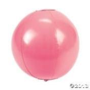 12 PINK BEACH BALLS 36cm BREAST CANCER AWARENESS Event DECOR ~ Dozen INFLATABLE