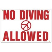 Pentair R231200 No Diving Allowed Pool Sign