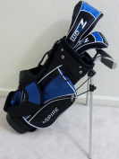 Boys Right Handed Junior Golf Club Set with Stand Bag for Kids Ages 3-6 Blue Colour Premium Jr. Professional Quality