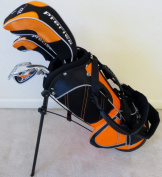 Boys Junior Golf Club Set with Stand Bag for Kids Ages 3-6 Ricky Fowler Orange Colour Right Handed Premium Professional Quality
