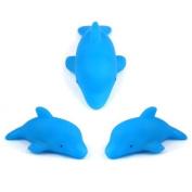 3pcs Baby Kids Bath Toy LED Flashing Dolphin Light Lamp, Blue