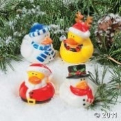 Toy - Christmas Holiday Rubber Ducky - 12 Count