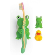 Froggie and Friends Suction Cup Toothbrush Holder