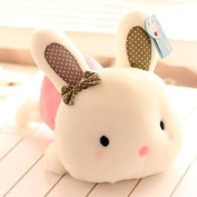 Cute Pink Doll Plush Toy Stuffed Animal Cushion Lumbar Pillow Rabbit Gift 20cm
