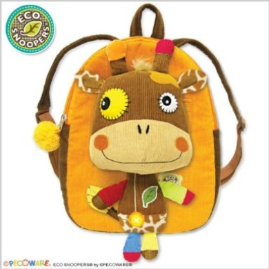 Eco Snoopers - Giraffe- Backpack with Removal Plush - Loop-de-Loo