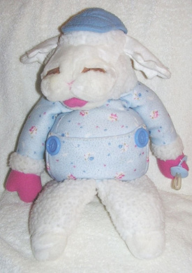 Large Shari Lewis Plush 43cm Baby Lamb Chop Puppet in BLUE Target Exclusive