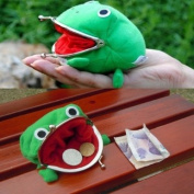 Naruto Cute Green Frog Coin Bag Cosplay Props Plush Toy Purse Wallet Funny Gift