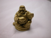 Dollhouse Miniature 2.5cm x 2.5cm Buddha Budda Buddah Buda Statue Gold Colour #Z0110