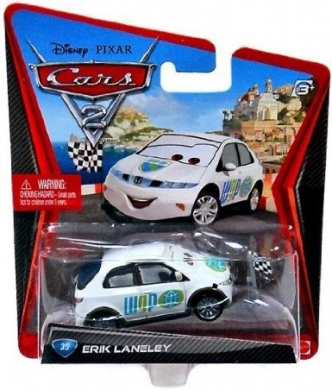Disney / Pixar CARS 2 Movie 1:55 Die Cast Car Erik Lanely [WGP Starter]