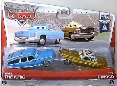Disney Pixar Cars 2-pack Mrs. King & Tex Dinoco