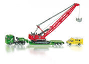 Siku 1834 Heavy Haulage Transporter with Excavator and Service Vehicle