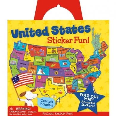 Peaceable Kingdom Press United States Sticker Tote