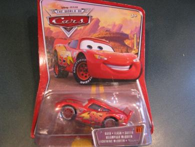 Outer package has shipping wear....International Edition World of Cars Disney Pixar Lightning Mcqueen Mattel
