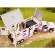 Breyer 1:32 Stablemates Horse Crazy Truck and Trailer Model