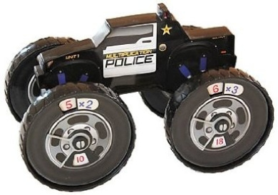 Junior Learning Multiplication Police Vehicle