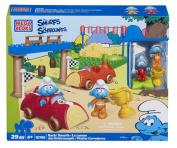 Mega Bloks Smurfs Racin Smurfs Building Playset