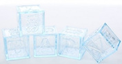 Adorable Baby Boy Blue Acrylic Alphabet Fillable Baby Blocks- For Showers, Decorating and More- 24 Total Blocks