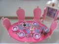 Barbie Size Dollhouse Furniture- Pink Princess Palace Dining Room