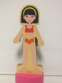 T.S. Shure Magnetic Wooden Dress-Up Doll- Alyssa Doll