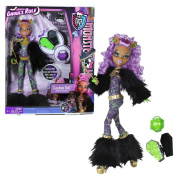 """Mattel Year 2012 Monster High """"Ghouls Rule"""" Series 30cm Doll Set - Clawdeen Wolf """"Daughter of The Werewolf) with Mask, Mini Coffin, Pumpkin Basket, Hairbrush and Display Stand"""