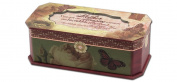 Cottage Garden Mother Belle Papier Petite Musical Jewellery Box Inspirational with Vintage Romance Finish Plays How Great Thou Art