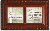 Cottage Garden In Remembrance Woodgrain Petite Music Box / Jewellery Box Plays How Great Thou Art