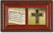 Cottage Garden Doctors Prayer Woodgrain Petite Music Box / Jewellery Box Plays Amazing Grace