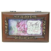Cottage Garden Sister Woodgrain Petite Rose Music Box / Jewellery Box Plays What A Friend We Have In Jesus