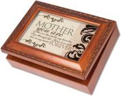 Cottage Garden Mother Woodgrain Music Box / Jewellery Box Plays Wind Beneath Wings