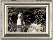 Cottage Garden With This Ring Wedding Champagne Silver Music Box / Jewellery Box Plays Unchained Melody
