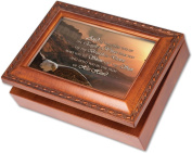 Cottage Garden Raise You Up Woodgrain Music Box / Jewellery Box Plays On Eagles Wings