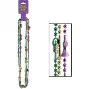 Musical Instrument Beads (asstd gold, green, purple) Party Accessory (1 count)