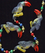 Toucan Luaua Toucans Mardi Gras Bead Necklace Spring Break Cajun Carnival Festival New Orleans Beads