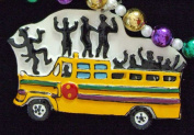 Party Bus Mardi Gras Bead Necklace Spring Break Cajun Carnival Festival New Orleans Beads