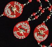 Surrender the Booty Pirate Necklace New Orleans Mardi Gras Spring Break Cajun Carnival Festival
