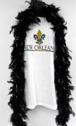 6' Black Boa with Gold Tinsel