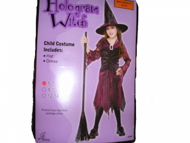 Hologram Witch Girls Halloween Costume Small 5-7