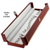 Classic Leatherette Red Double Doors Bracelet Gift Box