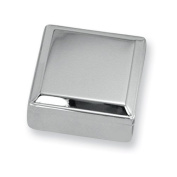 Nickel-plated Lift Top Square Box