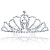 Bling Jewellery Silver Plated Expanding Arch Rhinestone Crystal Headpiece Crown Tiara