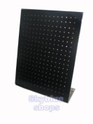 Black Acrylic Jewellery Display Stand for Stud Earrings, 252 holes, 19x23cm