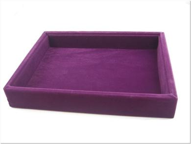 Purple Velvet Utility Jewellery Display Case, Multi-purpose, 20x15cm