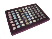 Purple Velvet Jewellery Display Case for Ring Cuff Link Cufflinks, 35x24cm