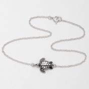 Sterling Silver 24.1cm Sea Turtle Anklet