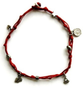 Red Anklet with Evil Eye & Good Luck Charms